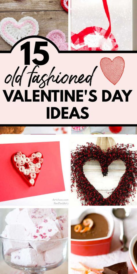 Recipes, crafts, and decor ideas for a sweet and simple Valentine's Day with old fashioned charm!