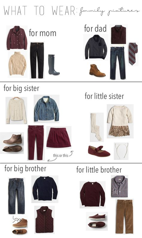 what to wear: family pictures