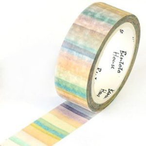 Natural Watercolour Stripes Medium Washi Tape Read It Later