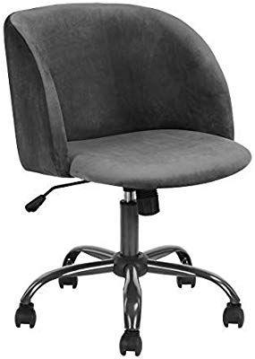 Amazon Com Eggree Modern Velvet Computer Desk Chair Ergonomic Mid