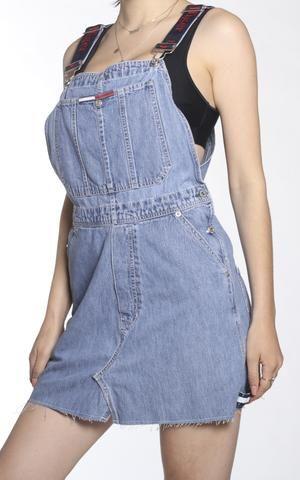 wholesale online save up to 80% online store Vintage Re-work Tommy Hilfiger Denim Skirt Overall