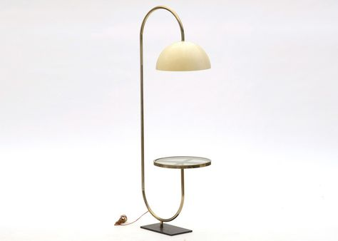Floor Lamp With Attached Side Table
