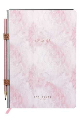 Wild And Wolf X Ted Baker London In Ore Of You Gemstone Notebook With Pencil Hope Gifts Ted Baker London Paper And Ink