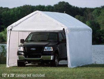 Outdoor Canopy Enclosure Kit Portable Car Port Shelter Cover Tent Garage 12 X 30