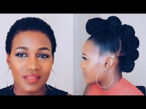 Protective Style Twisted Faux Hawk Updo Youtube Natural Hair Styles Short Natural Hair Styles Natural Hair Updo