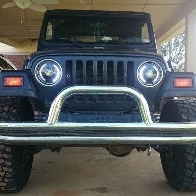 Jeep Wrangler 1997 2006 Led Black Sealed Beam Projector Headlight Conversion Jeep Wrangler Jeep Buy Jeep Wrangler