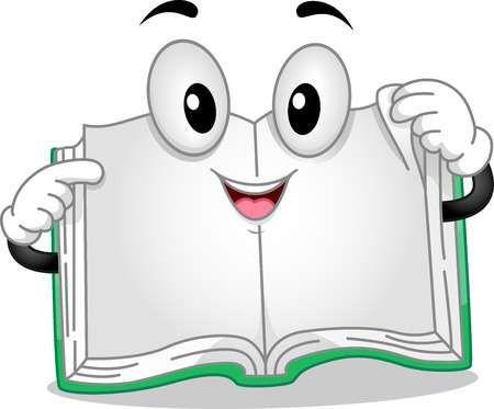 Ilustracion Mascota Con Un Libro Con Paginas Separe Dibujos De Libros Animados Dibujo Libro Abierto Libro Abierto Animado