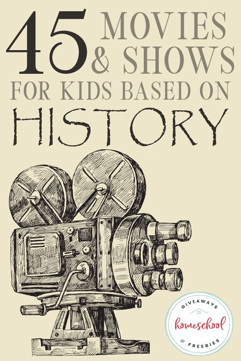 45 Movies & Shows for Kids Based on History - Help bring history to life when you watch movies your kids can relate to as they study. Check out ou - Science Movies, Kid Movies, Watch Movies, History Activities, Teaching History, History For Kids, Middle Ages History, Family History, Modern History