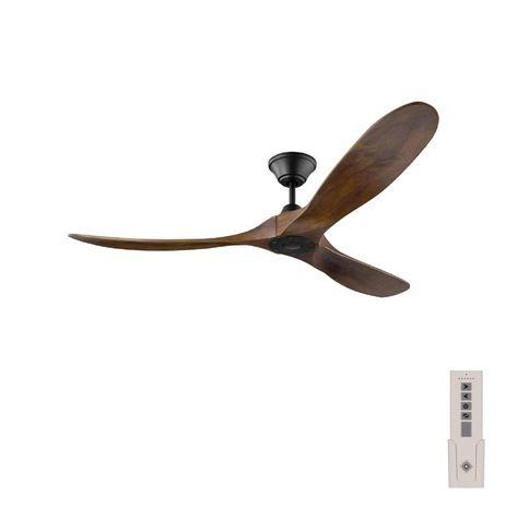 Monte Carlo Maverick 60 In Indoor Outdoor Matte Black Ceiling Fan