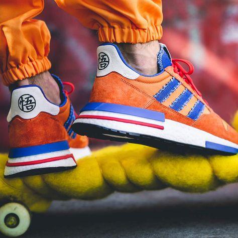 976e68fa4dbd1 Adidas x Dragonball Z ZX 500 RM « Son Goku »