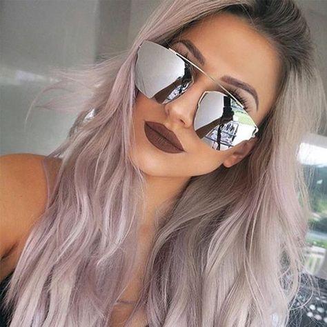 Composit Futuristic Women Sunglasses Mirrored Lens Metal Frame Designer Fashion