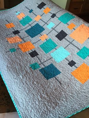 Mid Century Quilt : century, quilt, Mid-Century, Modern, Quilt, Tutorial, (Shiner's, View), Midcentury, Quilt,, Patterns, Free,, Quilts