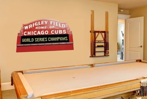 Wrigley Field Daytime Marquee Wall Mural Graphic By BigWallDecals |  Arthuru0027s Cubs Room | Pinterest | Wrigley Field, Wall Murals And Fields Part 85