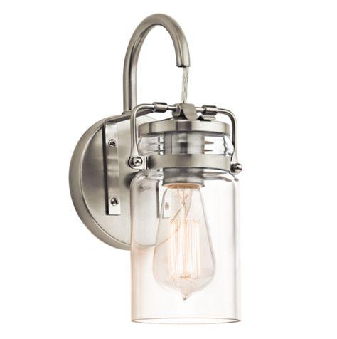 FREE SHIPPING. Purchase the 3 light mason jar Brinley Flush Mount in Olde Bronze…