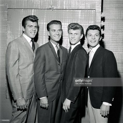Fabian, Dick Clark, Bobby Rydell, Frankie Avalon just starting out. Today they've been appearing together for 30 years as The Golden Boys.