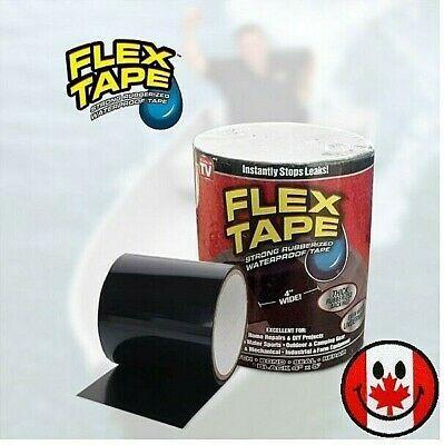 4 X5 Flex Tape Black Strong Rubberized Waterproof Seal Bond Patch Repair Tape In 2020 Repair Tape Repair Flex
