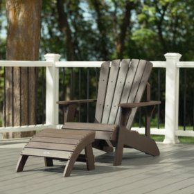Lifetime Adirondack Chair And Ottoman Combo Chair Ottoman