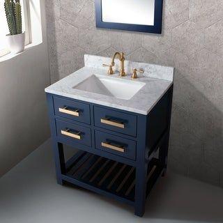 24 Inch Monarch Blue Single Sink Bathroom Vanity From The Madalyn