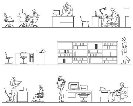 Sezioni Prospetto Uffici Dwg Persone In Ufficio Ufficio Planimetrie Prospettiva