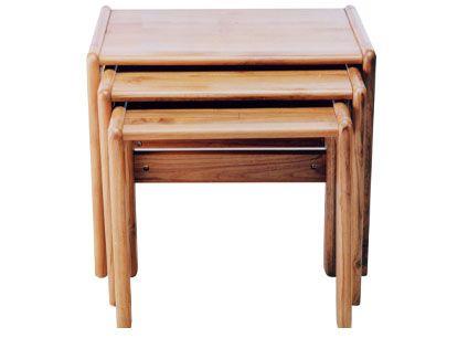 Scanteak Nesting Tables 425mm X 480mm X 560mm Nesting Tables Teak Wood Furniture Table