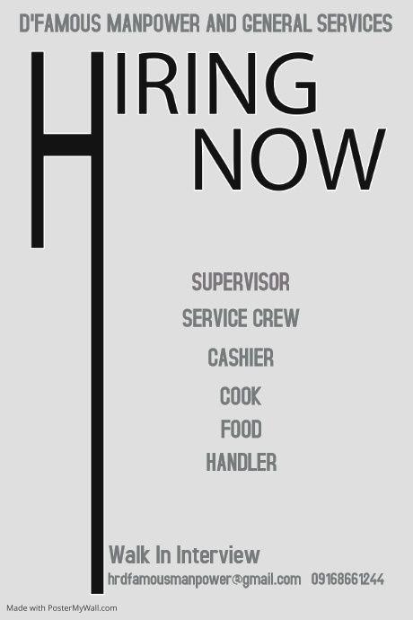 Copy Of Hiring Poster Hiring Poster Hiring Ad Poster