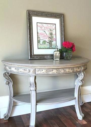 Half Moon Sofa Table Accent Table Decor Decorating End Tables