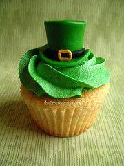 leprechaun hat cupcake for St. Patrick's day