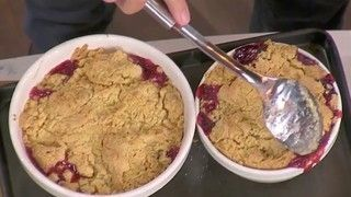 John Torode S Apple And Blackberry Crumble With Custard Blackberry Crumble Blackberry And Apple Crumble Crumble