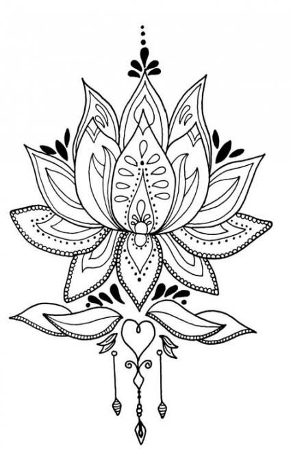 Flowers Drawing Mandala Lotus 58+ Ideas For 2019 #drawing #flowers