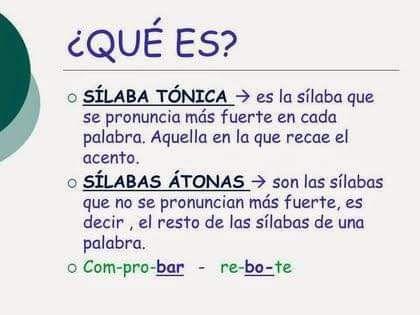 Fb Img 1598879508961 Silabas Tonicas Y Atonas Reglas De Acentuación Silabas Tonica