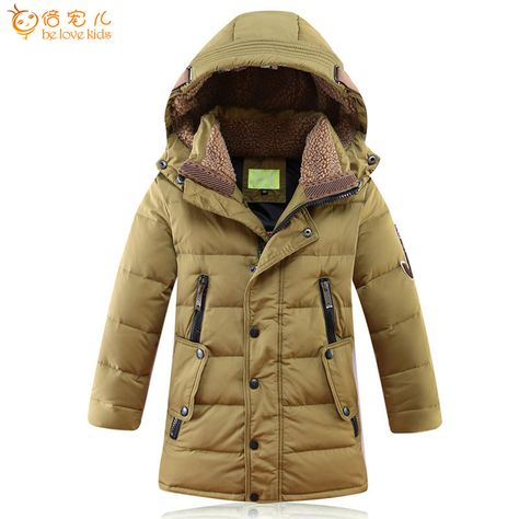 2019 Toddler Baby Boy Long Sleeve Fashion Warm Hooded Coat Thick Jacket Outwear