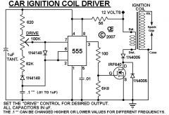 Hv Ignition Coil Driver Using 555 Ignition Coil Circuit Diagram Electronics Circuit