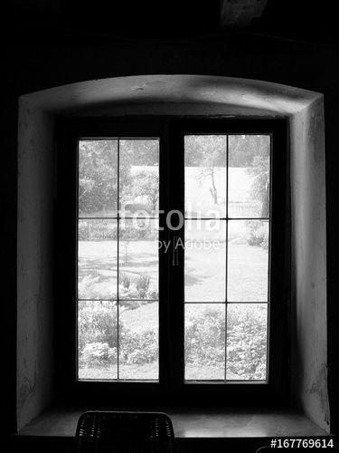 Erhabene Stille Beim Blick Aus Dem Fenster Eines Alten Bauernhaus