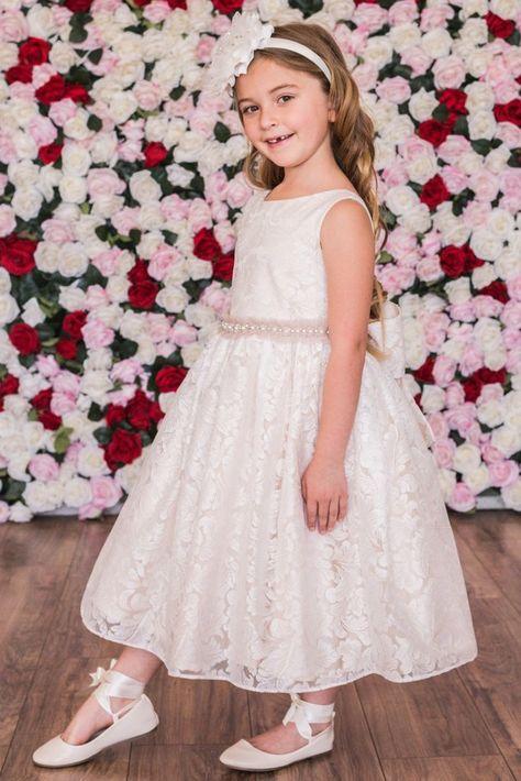 Lovely Flower Girls Kids Toddler Baby Princess Party Pageant Striped Dress U OTO