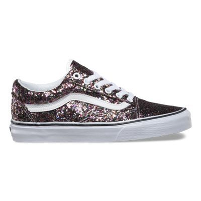 vans paillettes rose