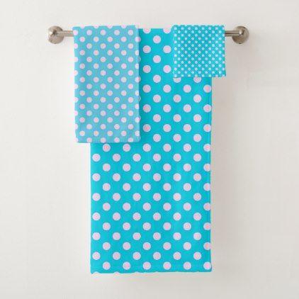 Polka Dots Bath Towel Set Zazzle Com Bath Towel Sets Towel