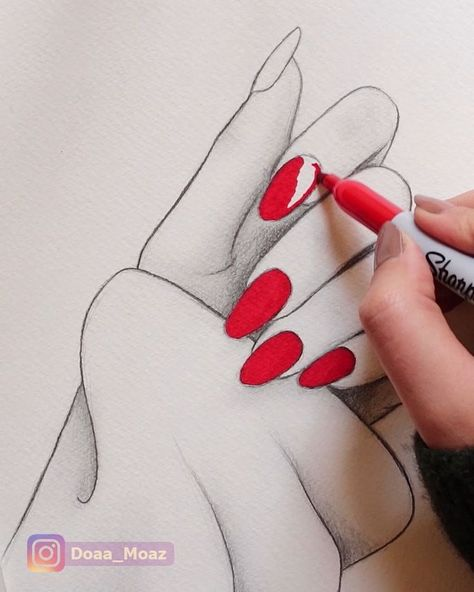 Satisfying hand drawing #drawings #art