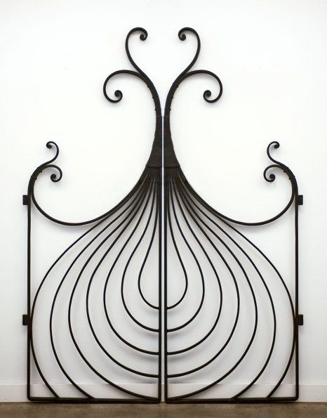 Lyrical Onion gate by Champlain Metals. via the Vermont ornamental iron work studios site - Gardening For You