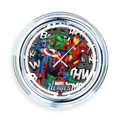 Marvel Heroes Effects Neon Wall Clock Bedbathandbeyond Com Clock Neon Clock Wall Clock