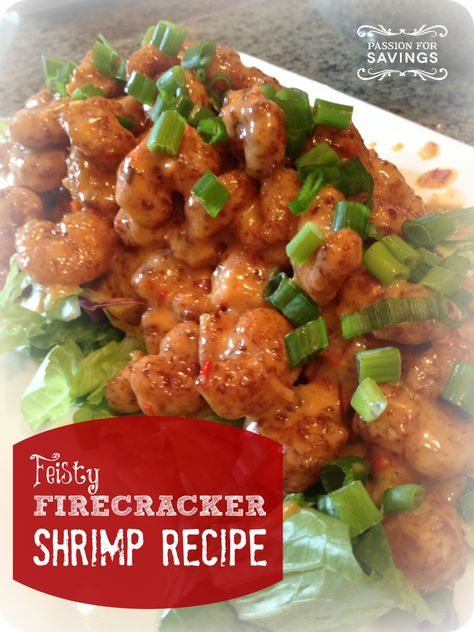 Firecracker #Shrimp. This crispy & spicy combo makes for a great mouth-watering dinner!