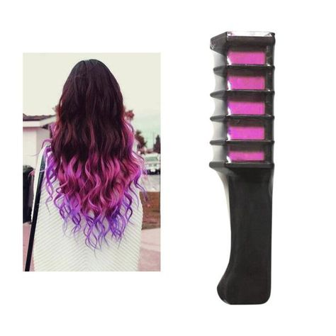 Multicolor Chalk Powder With Comb Colored Hair Temporary