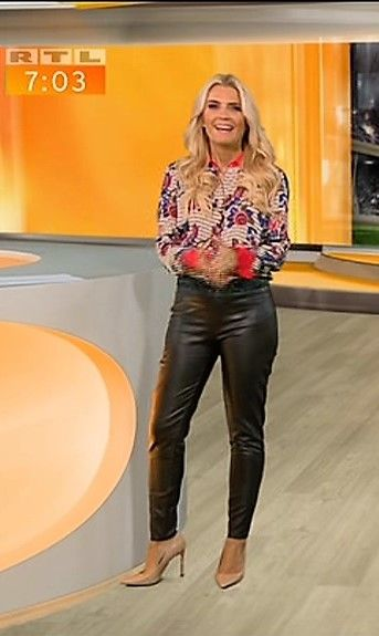 Jennifer Knable Rtl Tv Lederhose Damen Leder Leggings Modestil