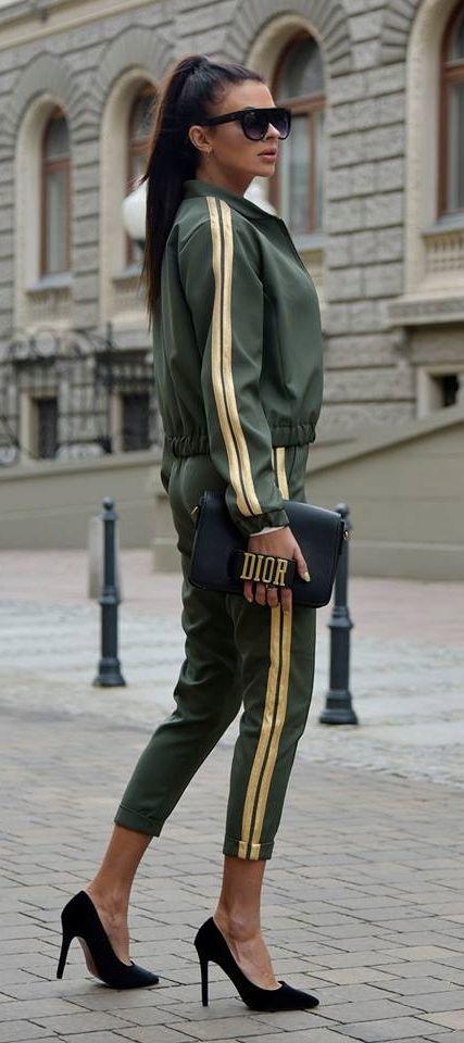 Komplet Damski Spodnie Kurtka Dres Lampas M 38 7608942326 Oficjalne Archiwum Allegro Fashion Leather Pants Style