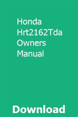 Honda Hrt2162tda Owners Manual Owners Manuals Addition Words Honda