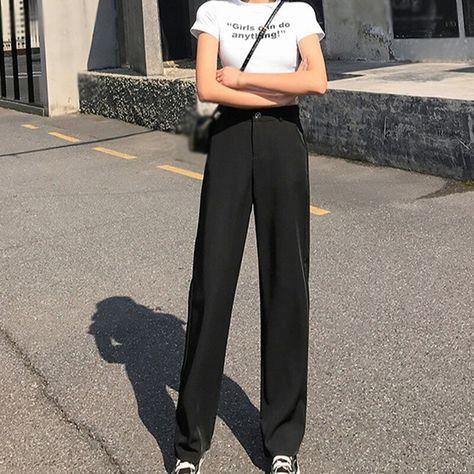 9.48US $  Women's Solid Color  pants Summer Korean Style Fashion Wild Casual Thin Loose Suit Pants Pants & Capris    - AliExpress
