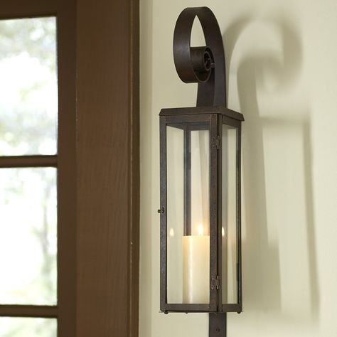 Scroll Tall Glass And Iron Wall Sconce Candle Wall Sconces Candle Holder Wall Sconce Iron Wall Sconces