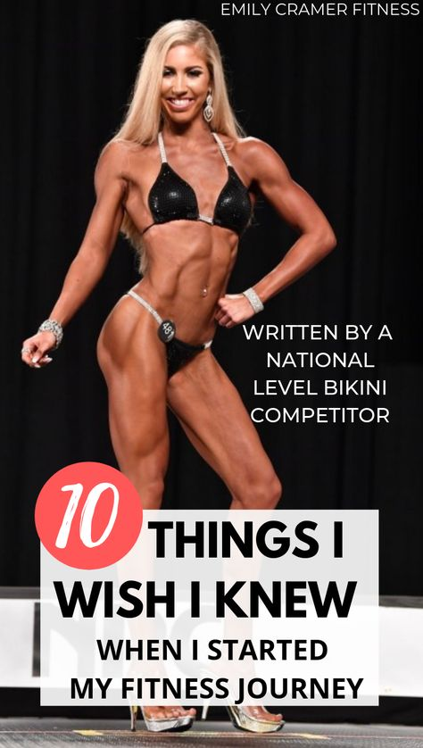Fitness journey - 10 Things I Wish I Knew When I Started My Fitness Journey – Fitness journey Fitness Tips For Women, Health And Fitness Tips, Bikini Fitness, Bikini Workout, Workout Routine For Men, Workout Men, Food Workout, Workout Plans, Muscle Fitness