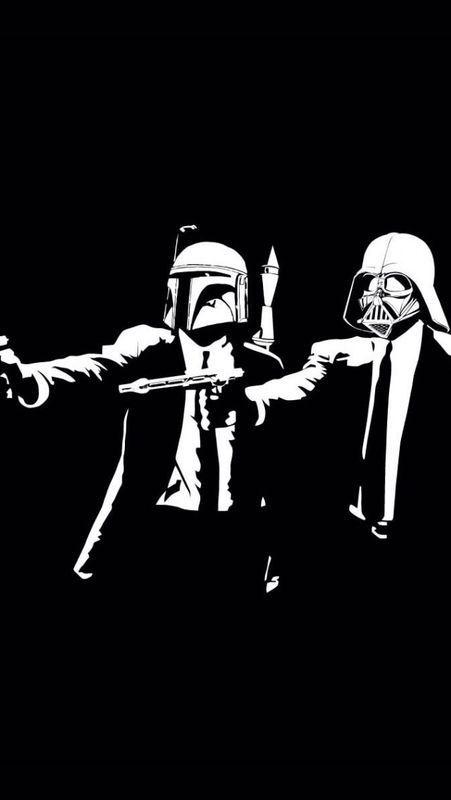 Pulp Fiction Meets Star Wars Iphone 5 Wallpaper Star Wars Parody Pulp Fiction Star Wars Wallpaper