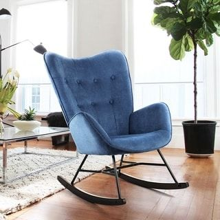 Living Room Chairs In 2021 Fabric Rocking Chairs Rocking Chair Wingback Rocking Chair