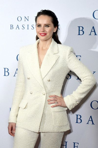 Actor Felicity Jones attends the screening of the film 'On The Basis of Sex' at The National Archives.